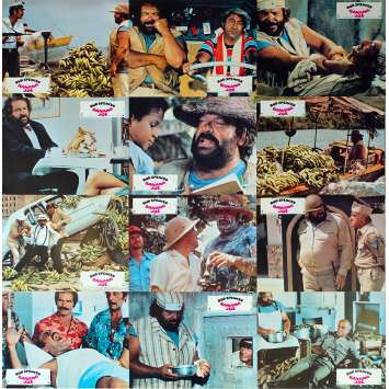 BANANA JOE Photos de film x12 - 21x30 cm. - 1982 - Bud Spencer, Steno