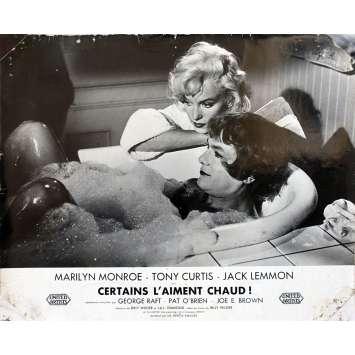 SOME LIKE IT HOT Original Lobby Card - 9x12 in. - 1959 - Billy Wilder, Marilyn Monroe