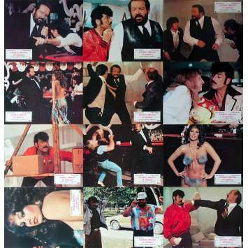 THIEVES AND ROBBERS Original Lobby Cards x12 - 9x12 in. - 1983 - Bruno Corbucci, Bud Spencer