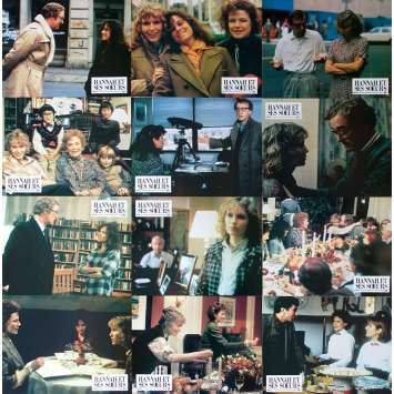 HANNAH AND HER SISTERS Original Lobby Cards x12 - 9x12 in. - 1986 - Woody Allen, Michael Caine