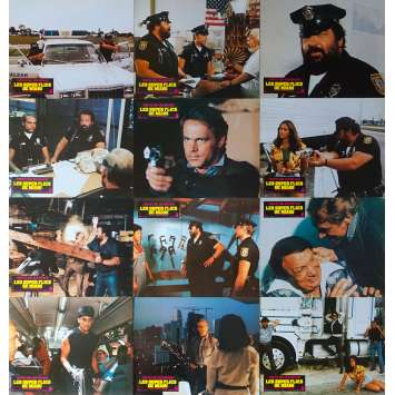 MIAMI SUPERCOPS Original Lobby Cards x12 - 9x12 in. - 1985 - Bruno Corbucci, Terence Hill, Bud Spencer