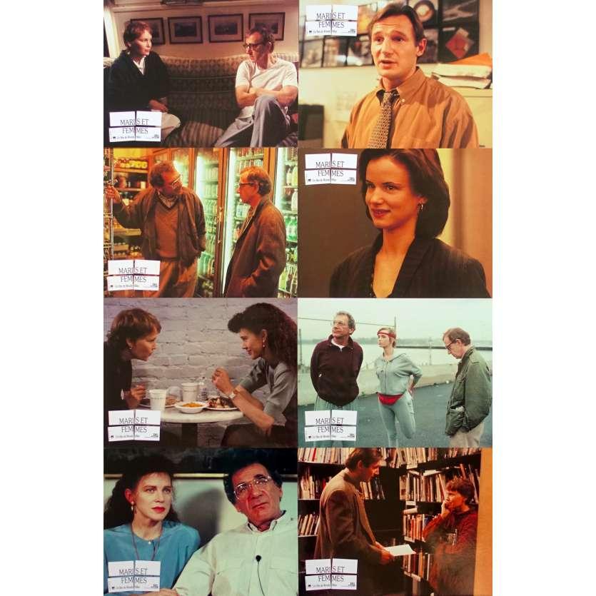 MARIS ET FEMMES Photos de film x8 - 21x30 cm. - 1992 - Mia Farrow, Woody Allen