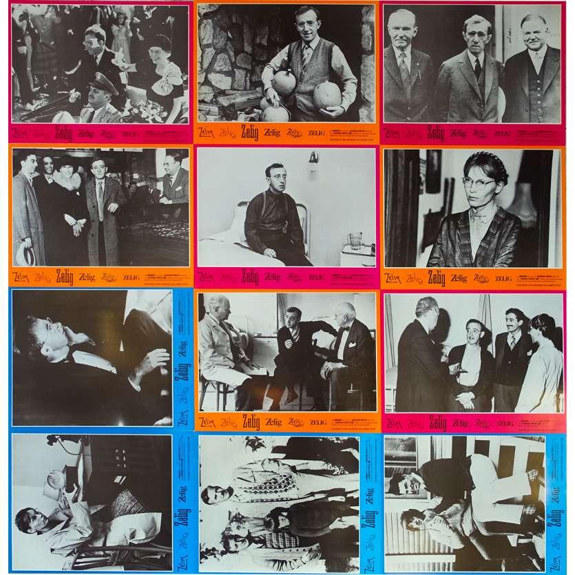 ZELIG Original Lobby Cards x12 - 9x12 in. - 1983 - Woody Allen, Mia Farrow
