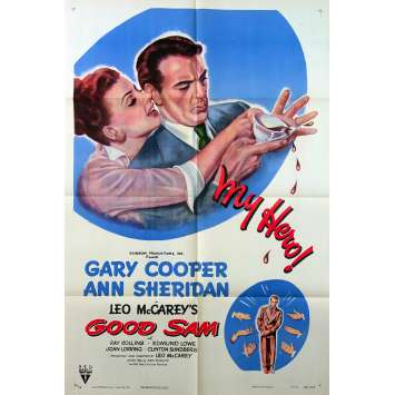 GOOD SAM Original Movie Poster - 27x41 in. - 1948 - Leo McCarey, Gary Cooper