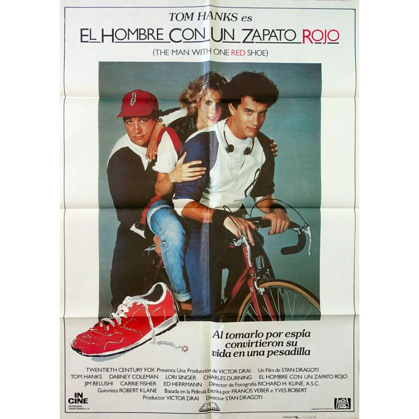 L'HOMME A LA CHAUSSURE ROUGE Affiche de film - 69x102 cm. - 1985 - Tom Hanks, Stan Dragoti