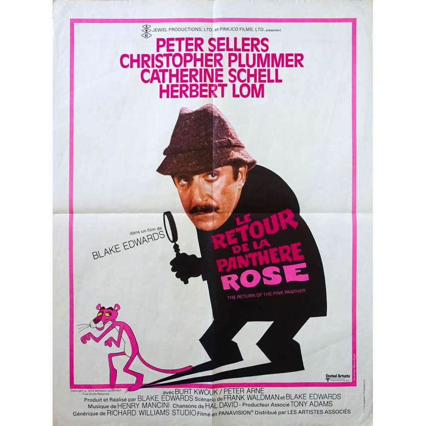 THE RETURN OF THE PINK PANTHER Original Movie Poster - 23x32 in. - 1975 - Blake Edwards, Peter Sellers