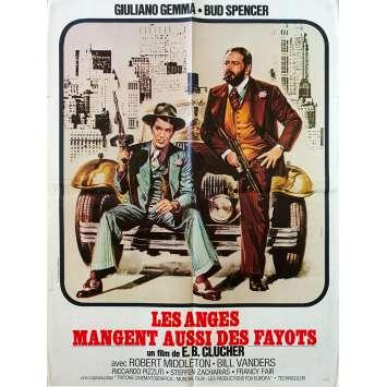 LES ANGES AUSSI MANGENT DES FAYOTS Affiche de film - 60x80 cm. - 1973 - Giuliano Gemma, Bud Spencer, Enzo Barboni