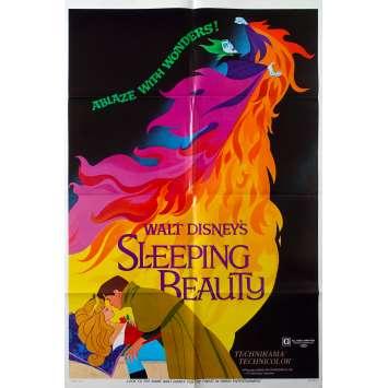 LA BELLE AU BOIS DORMANT Affiche de film - 69x102 cm. - R1970 - Mary Costa, Walt Disney
