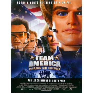 TEAM AMERICA WORLD POLICE Original Movie Poster - 15x21 in. - 2004 - Trey Parker, Matt Stone