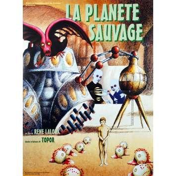 LA PLANETE SAUVAGE Affiche de film - 40x60 cm. - 1973 - Barry Bostwick, René Laloux