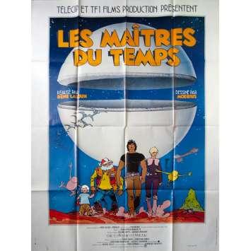 LES MAITRES DU TEMPS Affiche de film - 120x160 cm. - 1982 - Jean Valmont, René Laloux
