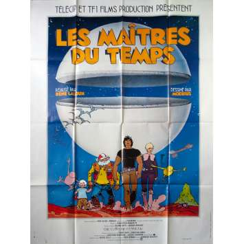 TIME MASTERS Original Movie Poster - 47x63 in. - 1982 - René Laloux, Jean Valmont