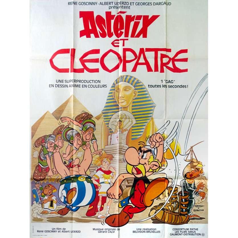 ASTERIX AND CLEOPATRA Original Movie Poster - 47x63 in. - 1968 - René Goscinny, Albert Uderzo, Roger Carel