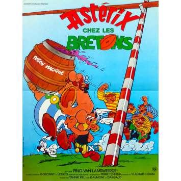 ASTERIX ET LES BRETONS Affiche de film - 40x60 cm. - 1986 - Roger Carel, René Goscinny, Albert Uderzo