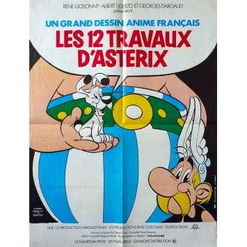 LES DOUZE TRAVAUX D'ASTERIX Affiche de film - 60x80 cm. - 1976 - Roger Carel, René Goscinny