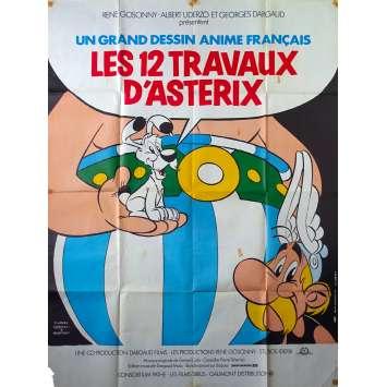 LES DOUZE TRAVAUX D'ASTERIX Affiche de film - 120x160 cm. - 1976 - Roger Carel, René Goscinny