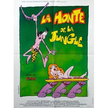 THE SHAME OF THE JUNGLE Original Movie Poster - 23x32 in. - 1975 - Picha, Bernard Dhéran
