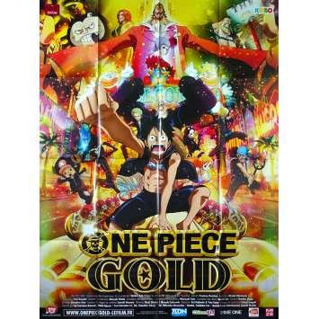 ONE PIECE FILM GOLD Original Movie Poster - 47x63 in. - 2016 - Hiroaki Miyamoto, Mayumi Tanaka