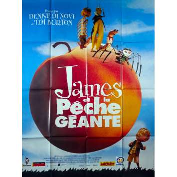 JAMES AND THE GIANT PEACH Original Movie Poster - 47x63 in. - 1996 - Henry Selick, Joanna Lumley