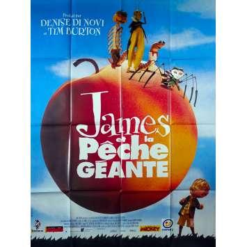 JAMES ET LA PECHE GEANTE Affiche de film - 120x160 cm. - 1996 - Joanna Lumley, Henry Selick