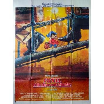 FIEVEL ET LE NOUVEAU MONDE Affiche de film - 120x160 cm. - 1986 - Christopher Plummer, Don Bluth