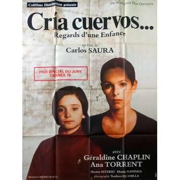 CRIA CUERVOS Affiche de film - 120x160 cm. - 1976 - Geraldine Chaplin, Carlos Saura
