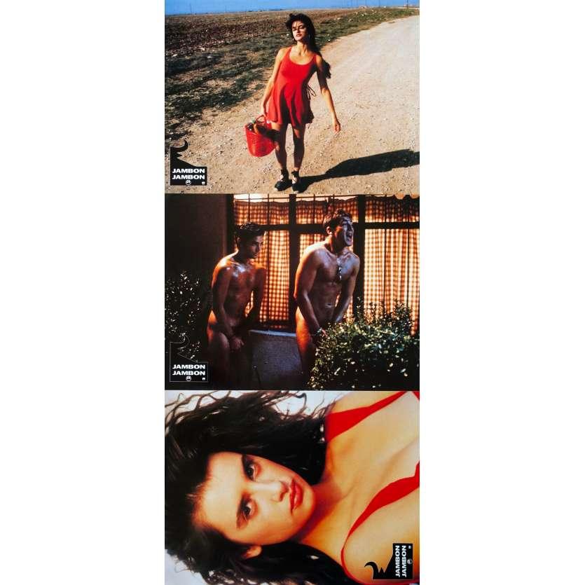 JAMON JAMON Original Lobby Cards x3 - 9x12 in. - 1992 - Bigas Luna, Javier Bardem, Penelope Cruz