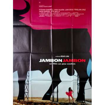 JAMON JAMON Original Movie Poster - 47x63 in. - 1992 - Bigas Luna, Javier Bardem, Penelope Cruz