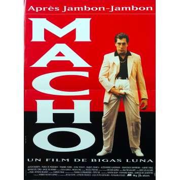 MACHO Affiche de film - 40x60 cm. - 1993 - Javier Bardem, Bigas Luna