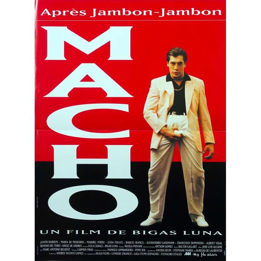 MACHO Original Movie Poster - 15x21 in. - 1993 - Bigas Luna, Javier Bardem