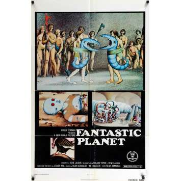 FANTASTIC PLANET US Movie Poster 29x41 - 1973 - René Laloux, Barry Bostwick