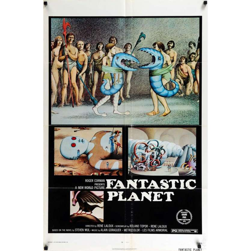 FANTASTIC PLANET US Movie Poster 29x41 - 1973 - René Laloux, Barry Bostwick
