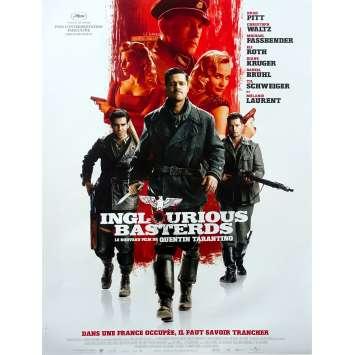 INGLORIOUS BASTERDS Original Movie Poster - 15x21 in. - 2009 - Quentin Tarantino, Brad Pitt