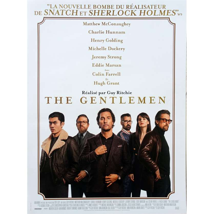 THE GENTLEMEN Original Movie Poster - 15x21 in. - 2020 - Guy Ritchie, Matthew McConaughey