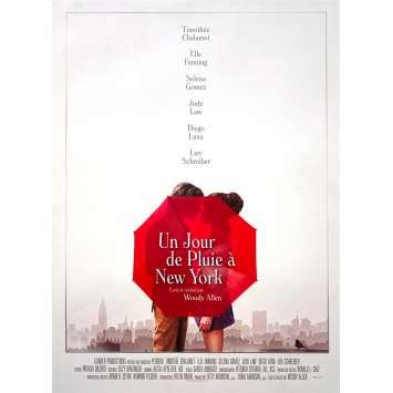 UN JOUR DE PLUIE A NEW YORK Affiche de film - 40x60 cm. - 2019 - Timothée Chalamet, Elle Fanning, Woody Allen