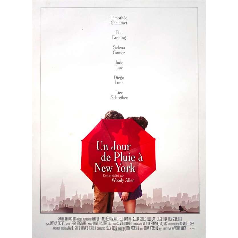 A RAINY DAY IN NEW YORK Original Movie Poster - 15x21 in. - 2019 - Woody Allen, Timothée Chalamet, Elle Fanning