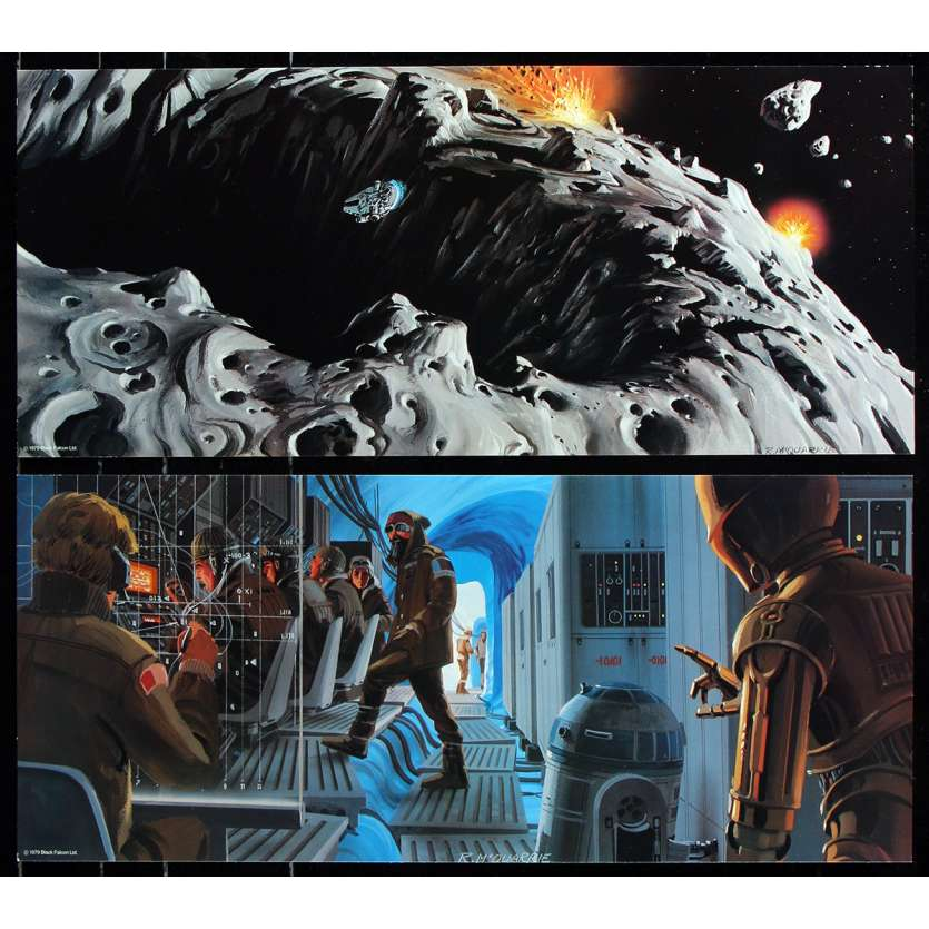 STAR WARS - EMPIRE STRIKES BACK Original Promotional Portfolio - 27x41 in. - 1980 - George Lucas, Harrison Ford