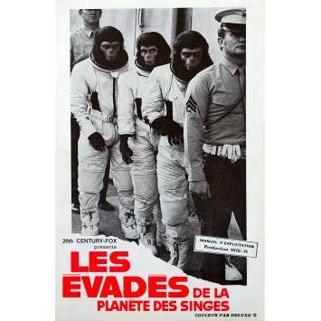 LES EVADES DE LA PLANETE DES SINGES Programme - 16x25 cm. - 1971 - Roddy McDowall, Don Taylor
