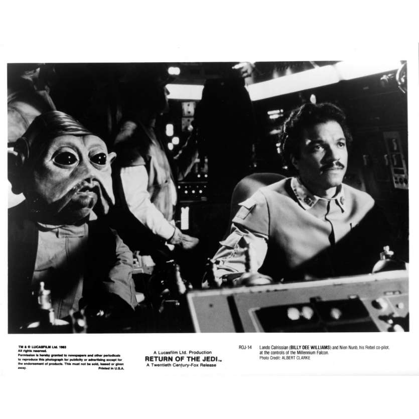 STAR WARS - LE RETOUR DU JEDI Photo de presse ROJ-14 - 20x25 cm. - 1983 - Harrison Ford, Richard Marquand