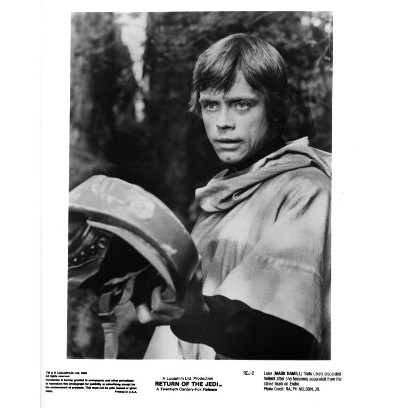 STAR WARS - LE RETOUR DU JEDI Photo de presse ROJ-2 - 20x25 cm. - 1983 - Harrison Ford, Richard Marquand
