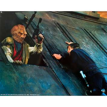 STAR WARS - LE RETOUR DU JEDI Photo de film - 28x36 cm. - 1983 - Harrison Ford, Richard Marquand