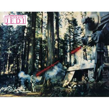 STAR WARS - LE RETOUR DU JEDI Photo de film N7 - 21x30 cm. - 1983 - Harrison Ford, Richard Marquand