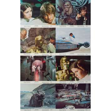 STAR WARS - A NEW HOPE Original Lobby Cards x8 - 8x10 in. - 1977 - George Lucas, Harrison Ford