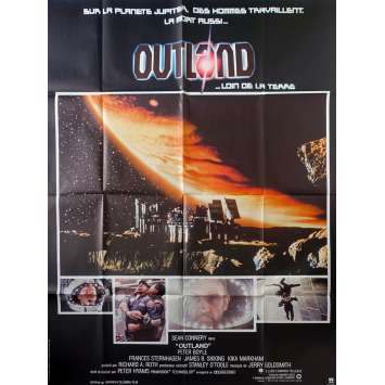OUTLAND Original Movie Poster - 47x63 in. - 1981 - Peter Hyams, Sean Connery