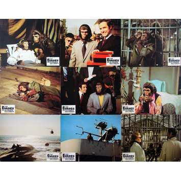 ESCAPE FROM THE PLANET OF THE APES Original Lobby Cards x9 - 10x12 in. - 1971 - Don Taylor, Roddy McDowall