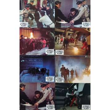 CONQUEST OF THE PLANET OF THE APES Original Lobby Cards x8 - 10x12 in. - 1972 - J. Lee Thomson, Roddy McDowall