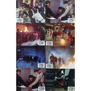 LA CONQUETE DE LA PLANETE DES SINGES Photos de film x8 - 24x30 cm. - 1972 - Roddy McDowall, J. Lee Thomson