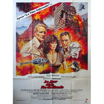 WHEN TIME RAN OUT Original Movie Poster - 47x63 in. - 1980 - James Goldstone, Paul Newman, Jacqueline Bisset
