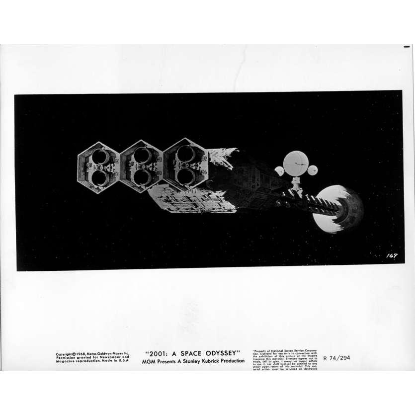 2001 L'ODYSSEE DE L'ESPACE Photo de presse 169B - 20x25 cm. - R1974 / 1968 - Keir Dullea, Stanley Kubrick