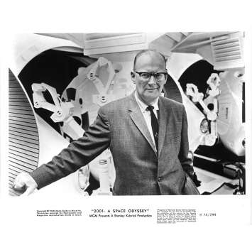2001 L'ODYSSEE DE L'ESPACE Photo de presse AC1 - 20x25 cm. - R1974 / 1968 - Keir Dullea, Stanley Kubrick